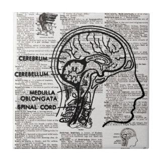 頭脳辞書の芸術のタイル タイル