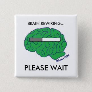 """""""頭脳配線をし直す""""のボタン 缶バッジ"""