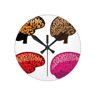 頭脳 ラウンド壁時計