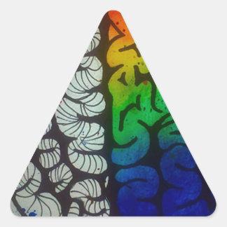 頭脳 三角形シール
