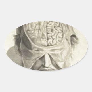 頭脳 楕円形シール