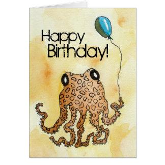 頭足類の誕生日 カード