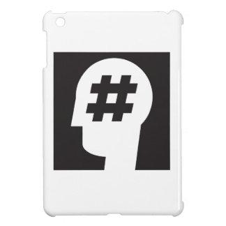 頭部で付くhashtag iPad miniカバー