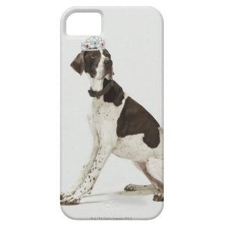 頭部にティアラと坐っている犬 iPhone SE/5/5s ケース