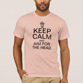 頭部のための平静そして目標を保って下さい Tシャツ