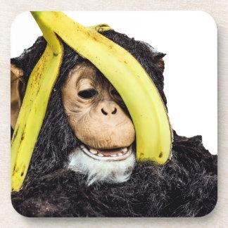 頭部のバナナを持つ猿 コースター