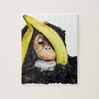 頭部のバナナを持つ猿 ジグソーパズル