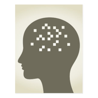 頭部のピクセル ポストカード