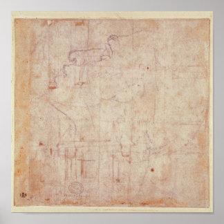頭部の勉強、1525-26年 ポスター