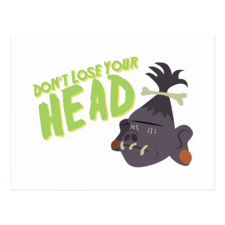 頭部を失わないで下さい ポストカード