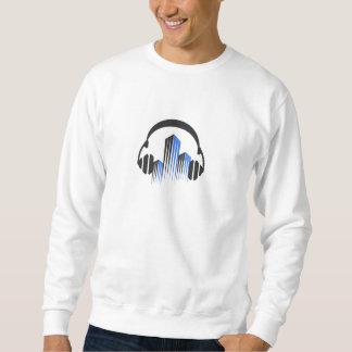 頻度平衡装置DJ音楽音が付いているヘッドホーン スウェットシャツ