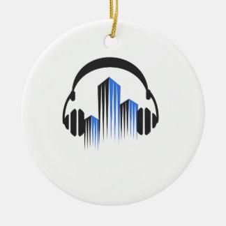頻度平衡装置DJ音楽音が付いているヘッドホーン セラミックオーナメント