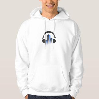 頻度平衡装置DJ音楽音が付いているヘッドホーン パーカ