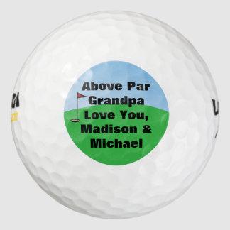 額面以上で名前入りな習慣 ゴルフボール