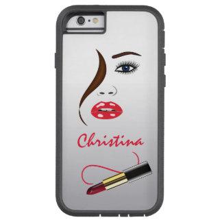 顔および口紅のキスの鏡のXtremeのiPhone6ケース Tough Xtreme iPhone 6 ケース