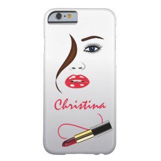 顔および口紅のキスは細いiPhoneを6 6S映します Barely There iPhone 6 ケース