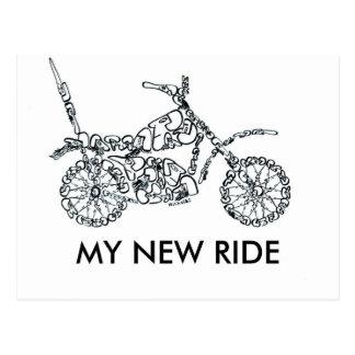 顔から成っているモーターバイク ポストカード