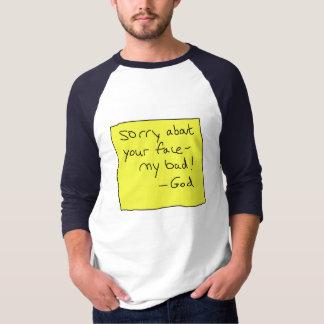 顔について残念 Tシャツ