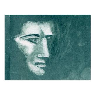 顔のプリント1 ポストカード