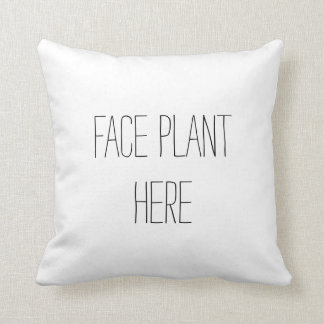 顔の植物のおもしろいな枕 クッション