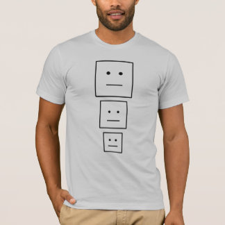 顔の積み重ね Tシャツ