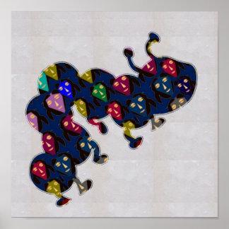 顔の色彩の鮮やかな幼虫の昆虫NavinJOSHI NVN121 ポスター