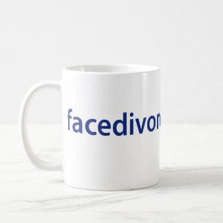 顔の離婚のロゴのマグ コーヒーマグカップ