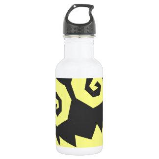 顔の黒で異常なNALGames + 黄色 ウォーターボトル