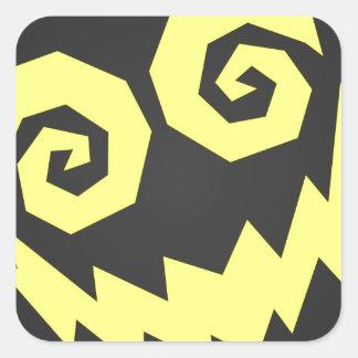 顔の黒で異常なNALGames + 黄色 スクエアシール
