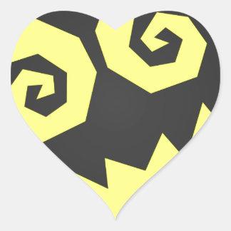 顔の黒で異常なNALGames + 黄色 ハートシール