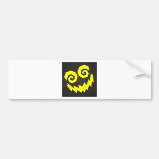 顔の黒で異常なNALGames + 黄色 バンパーステッカー