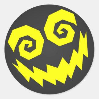顔の黒で異常なNALGames + 黄色 ラウンドシール