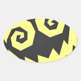 顔の黒で異常なNALGames + 黄色 楕円形シール