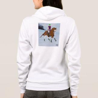 顔のWarmbloodの禿げた馬 パーカ