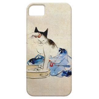 顔を洗う猫、広重猫の顔の洗浄、Hiroshige、Ukiyo-e iPhone SE/5/5s ケース