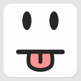 顔を突き出る舌 スクエアシール