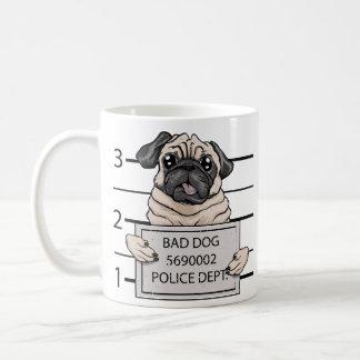 顔写真犬の漫画 コーヒーマグカップ
