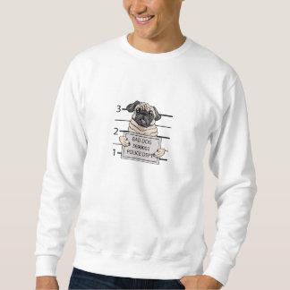 顔写真犬の漫画 スウェットシャツ