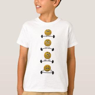 顔文字の持ち上がる重量、漫画のスタイル Tシャツ