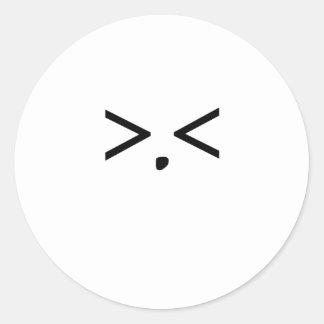 顔文字: 欲求不満 丸型シール