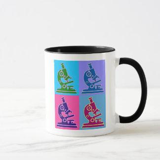 顕微鏡のポップアート マグカップ