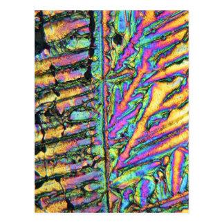 顕微鏡の下のビスマスの塩化物 ポストカード