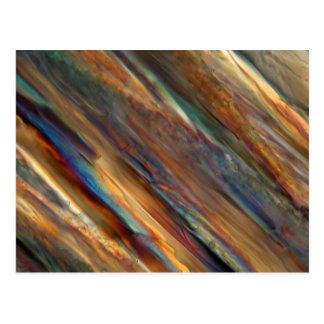 顕微鏡の下のワイン-ピノー(白)ワイン ポストカード