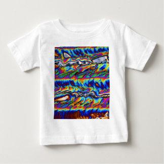 顕微鏡の下の亜鉛アセテートの水晶 ベビーTシャツ