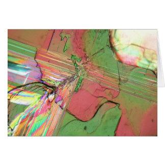顕微鏡の下の塩化バリウムの水晶 カード