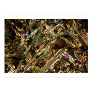 顕微鏡の下の水晶かアルミン酸塩 ポストカード