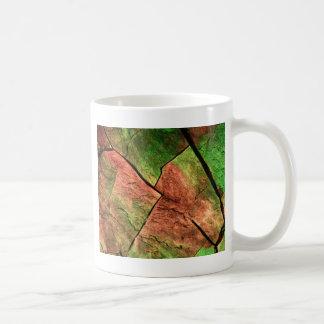顕微鏡の下の硫黄の水晶 コーヒーマグカップ