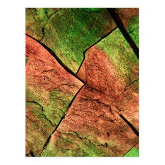 顕微鏡の下の硫黄の水晶 ポストカード