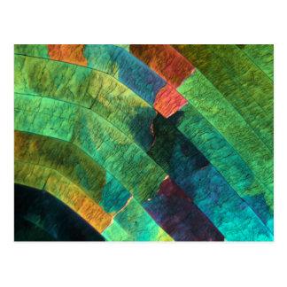 顕微鏡の下の硫黄 ポストカード