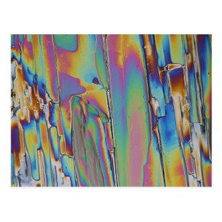 顕微鏡の下の要素かプラセオジム ポストカード